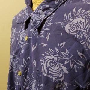 Ralph Lauren jean co. Floral blue short sleeve